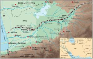 Gorgan-Mauer und Tammishe-Mauer