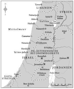 Istrael und Westjordanland/Gazastreifen