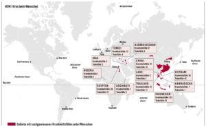 H5N1 Virus beim Menschen 2007