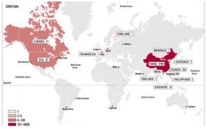 SARS in der Welt