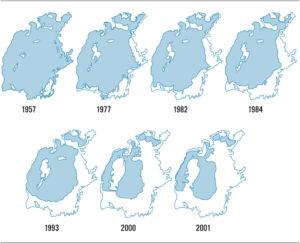Aralsee 1957 bis 2001