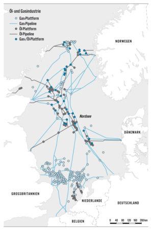 Öl und Gas in der Nordsee