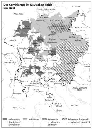 Calvinismus im Deutschen Reich um 1618