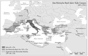 Römisches Reich zur Zeit Cäsars