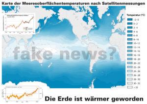 Die Temperatur auf der Erde ändert sich