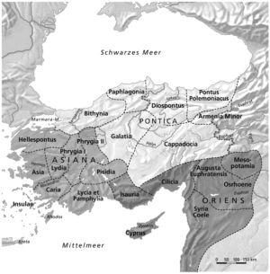 Diözesen in Kleinasien