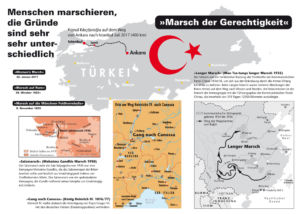 Ein Politiker marschiert von Ankara nach Istanbul 2017