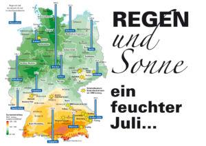Regen und Sonne in Deutschland
