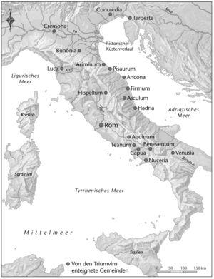 Die Ausplünderung der italischen Städte nach 42