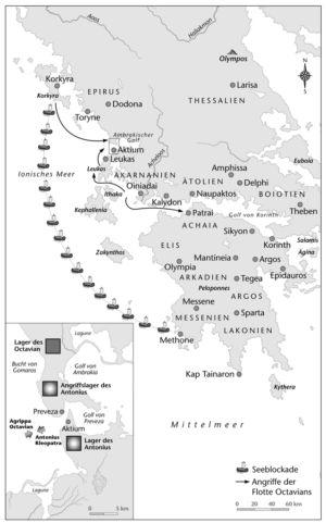 Flottenbewegungen vor Actium