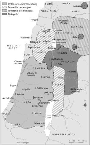 Reich des Herodes; Judäa zur Zeit Jesu