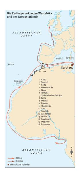 Karthager erkunden Westafrika