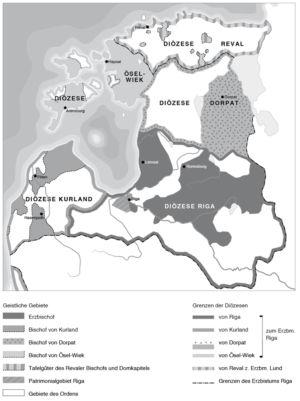 Diözesen in Livland
