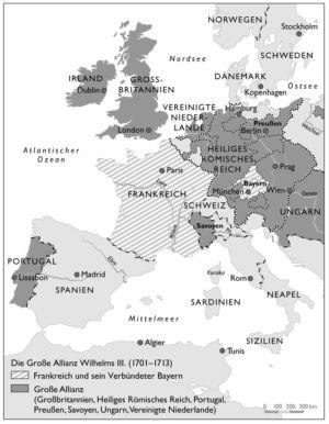 Europa 1701 bis 1713