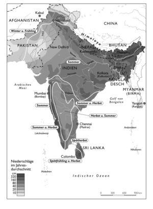 Niederschläge in Indien