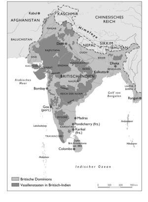 Expansion der britischen Macht in Südasien 1765 bis 1857
