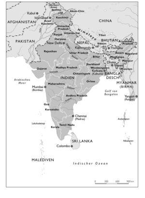 Indien und seine Nachbarn im Jahr 2000