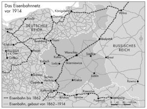 Eisenbahnnetz vor 1914