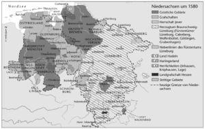 Niedersachsen um 1580