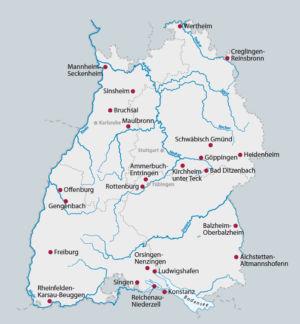 Baden-Württemberg (Karte gibt es in 40 Varianten)