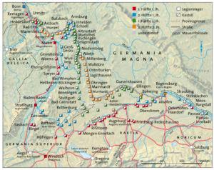 Kastelle am Rhein und der Donau
