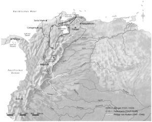 Reisen in Südamerika im 16. Jahrhundert