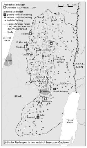 Jüdische Siedlungen in den arabisch besetzten Gebieten