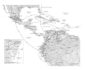 Humboldt in Amerika in heutigen Grenzen