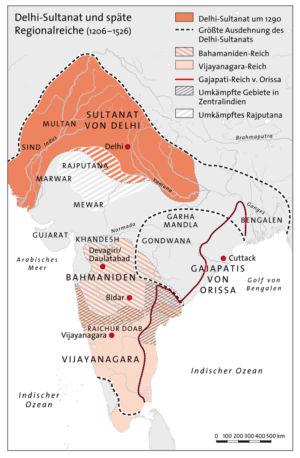 Delhi-Sultanat und späte Regionalreiche 1206 bis 1526