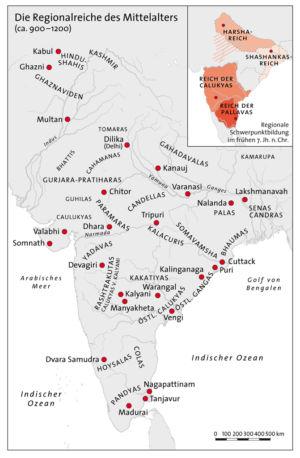 Indien im Mittelalter 900 bis 1200
