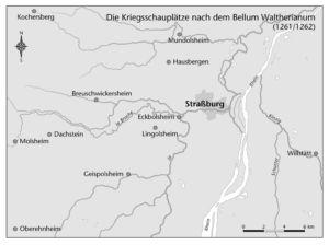 Kriegsschauplätze nach dem Bellum Waltherianum 1261/62
