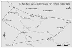 Rundreise von Irmgard v. Herford 1290