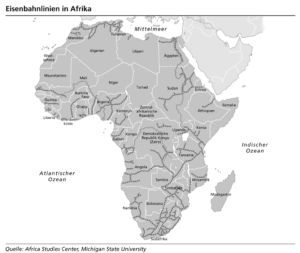 Eisenbahnnetz in Afrika