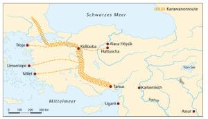 Karawanenrouten in Kleinasien