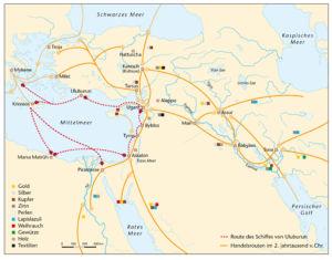 Handelsrouten im 2. Jahrtausend v. Chr. (Eisenzeit)