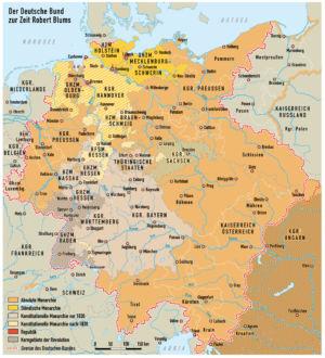Deutscher Bund zur Zeit Robert Blums