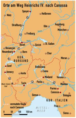 Heinrichs Gang nach Canossa 1076/77