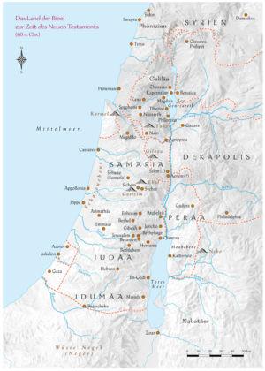 Palästina im Neuen Testament 60 n.Chr.