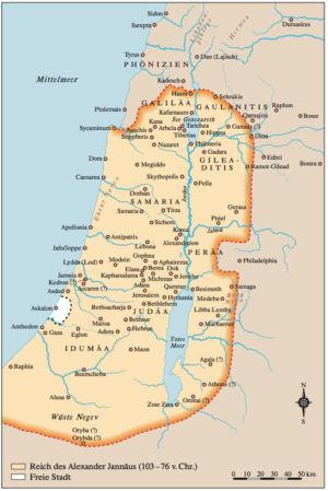 Palästina 103 bis 76 v.Chr.