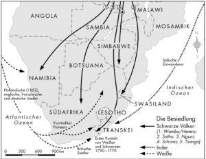 Besiedlung Südafrikas