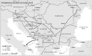 Schmuggelrouten auf dem Balkan (90er Jahre)
