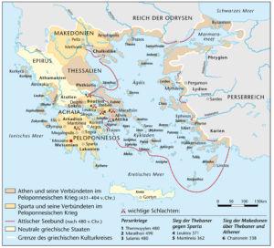 Peloponnesischer Krieg 431 bis 404 vor Christus