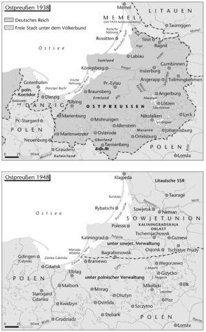 Ostpreußen 1938 und 1948