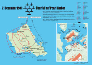 Angriff auf Pearl Harbor am 7. Dezember 1941