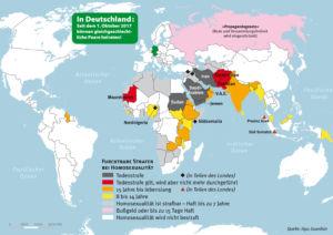 Länder in denen Homosexualität heute noch bestraft wird
