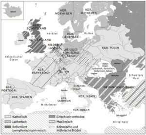 Konfessionen in Europa 1650