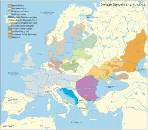 Die verschiedenen Kulturen in der späten Eisenzeit