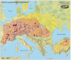 Keltische und germanische Kulturelle Einflüsse während der Eisenzeit