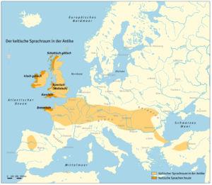 Der keltische Sprachraum in der Antike