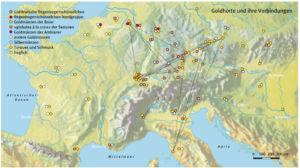 Goldhorte und ihre Verbindungen aus der Eisenzeit